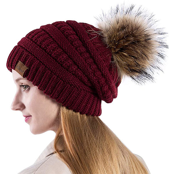 Fleece lined thermal slouchy beanie