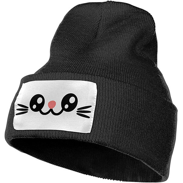 Kitty face beanie hat for winter