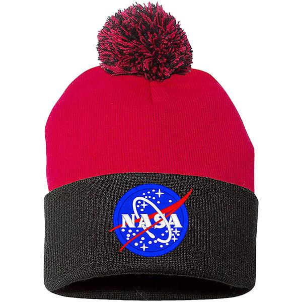 Long Durable NASA Pom Pom Beanie