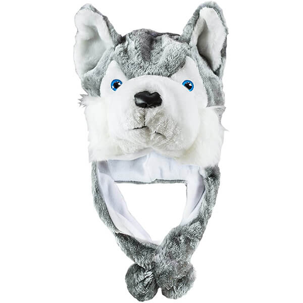 Warm Wolf Beanie With Short Earflaps