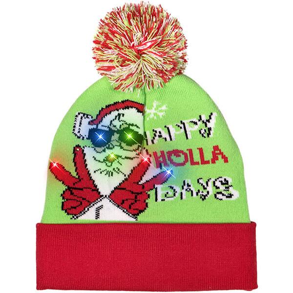 Green cool santa beanie for everyone