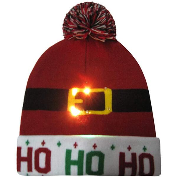 Stylish buckle light up christmas beanie