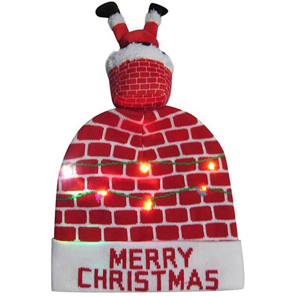 Funny santa light up christmas beanie for you