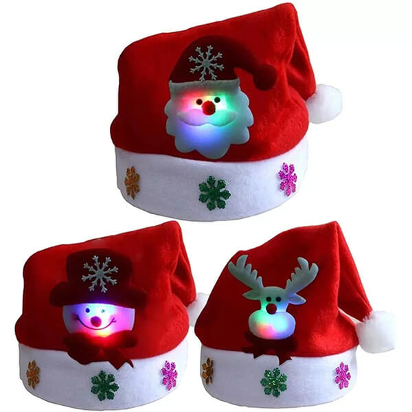 Stand out fashion-forward led christmas beanie