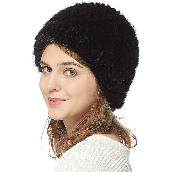 Alluring Mink Fur Beanie To Pair Up With Anything