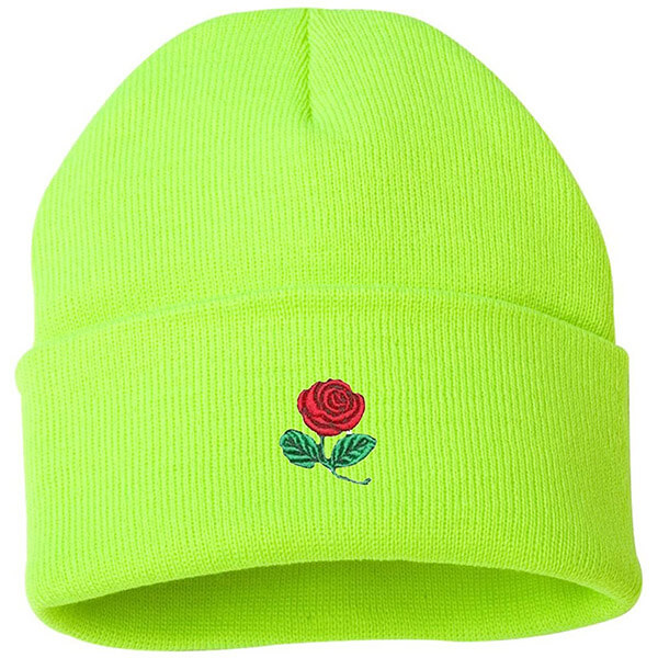 Neon rose beanie for your next sport