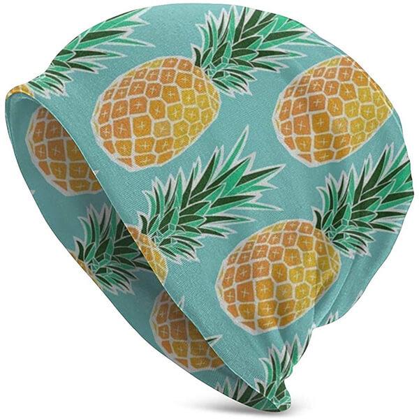 Pineapple Slouchy Beanie Hat
