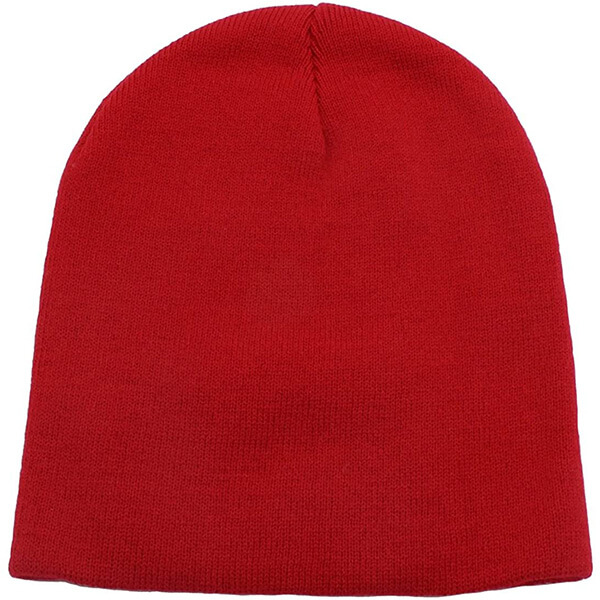 Stunning red cuffless beanie for all activities