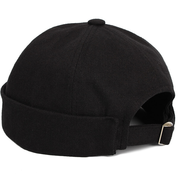 Versatile Black strapback beanie for all activities