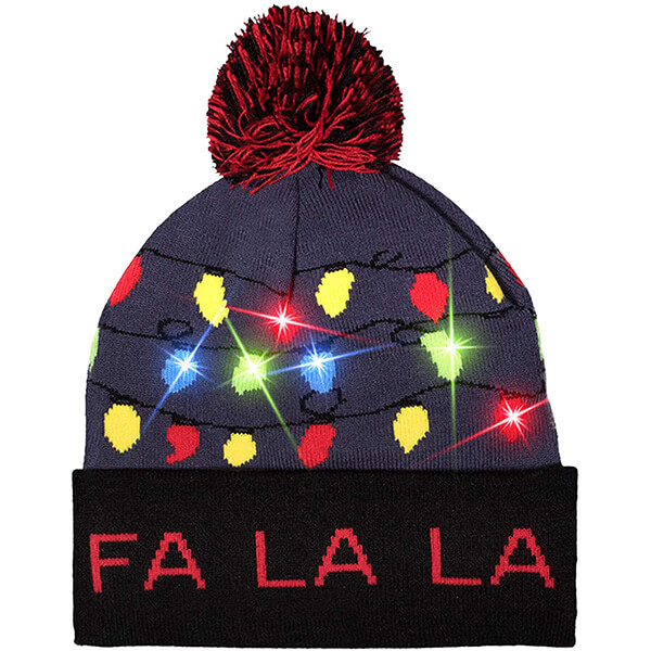 4 in one led Christmas beanies for your family