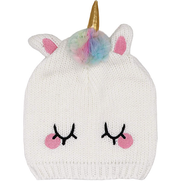 Adorable winter unicorn horn beanie for kids