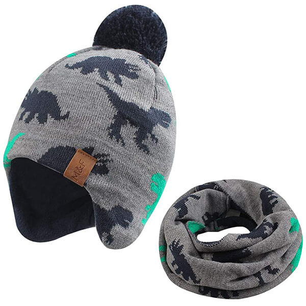 Dino beanie hat for 3 months to 10 years