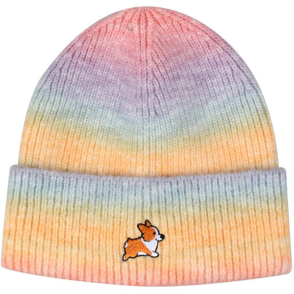 Dog Embroidery Multi-Color Beanie for Pet Lovers