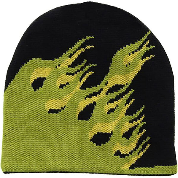 Martian Green Flames Beanie For You