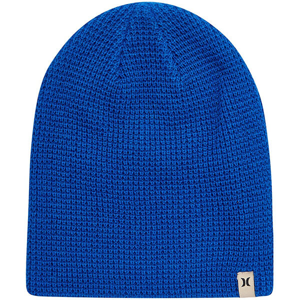 Royal blue waffle beanie for blue lovers