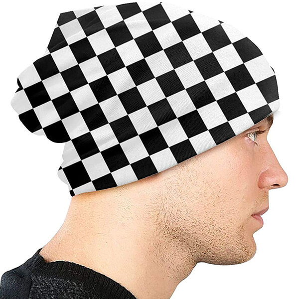 Slouchy Checkered Beanie for Both Genders