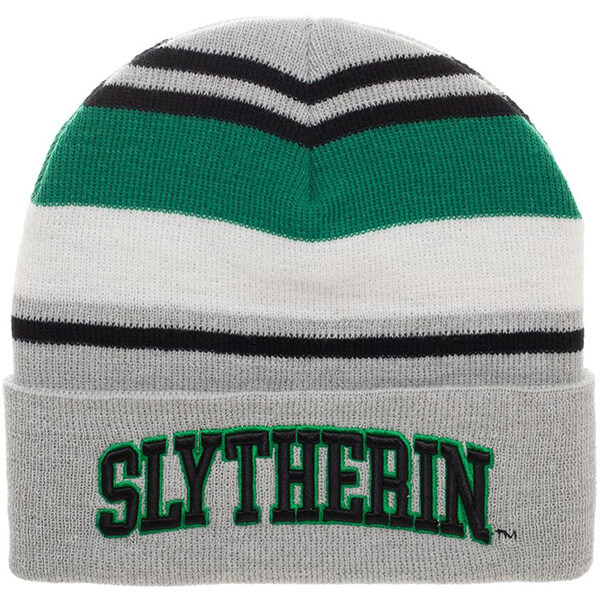 Slytherin Striped Cuff Beanie