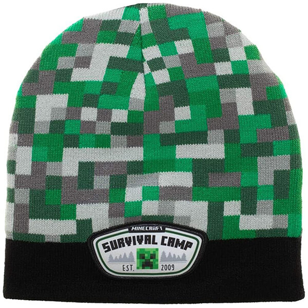 Stylish Beanie for Little Minecrafters