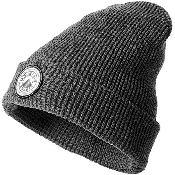 Basic style, grey waffle beanie for all