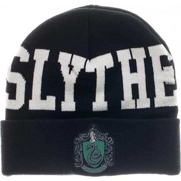 Black and White Slytherin Unisex Cuff Beanie
