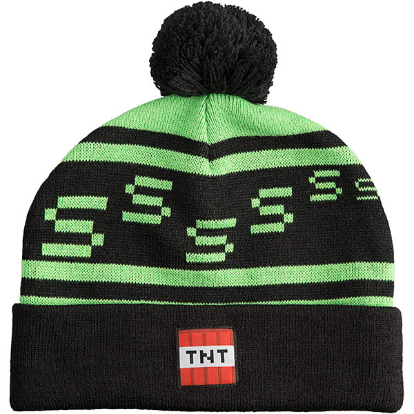 Pom-pom Minecraft Beanie In One Size