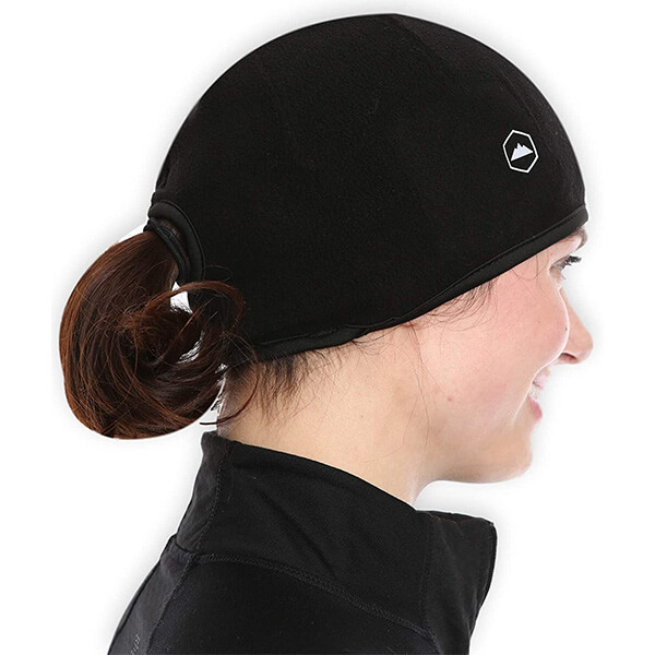 Ponytail motorcycle beanie for all women