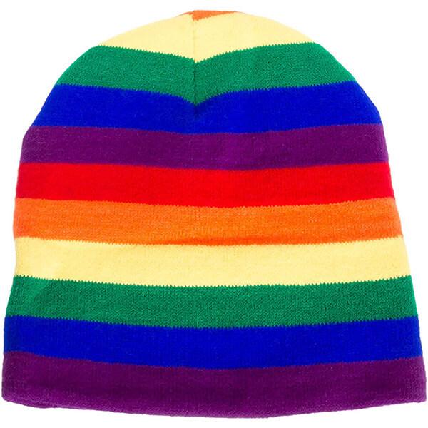 Rainbow Striped LGBTQ Winter Hat