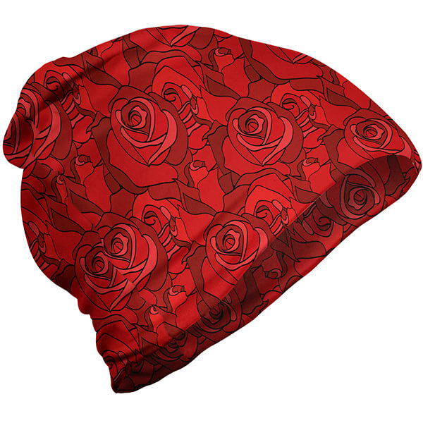 Slouchy red rose beanie for teens girls