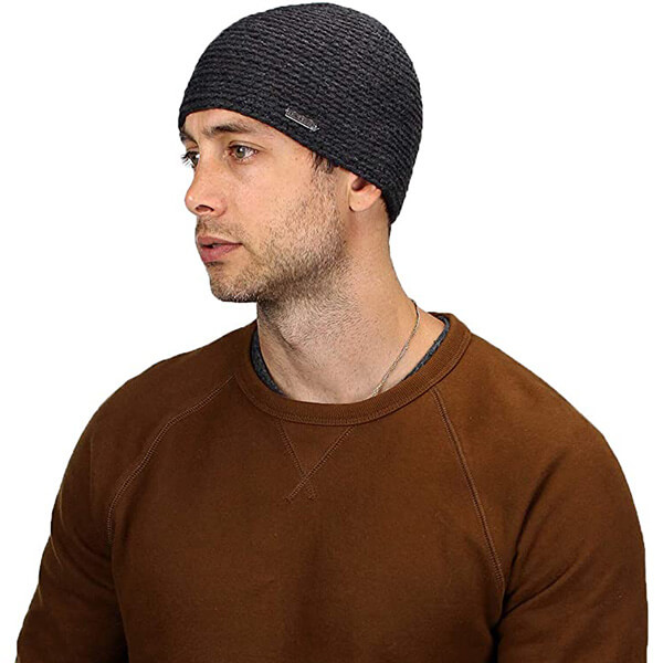 Classic knit cuffless beanie for all ages