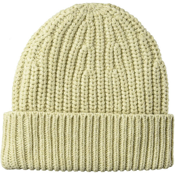 Cotton Nylon Blend Ribbed Beanie With Cuff