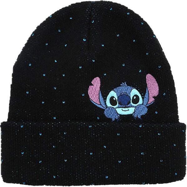 Glitter Lilo and Stitch Peeking Beanie