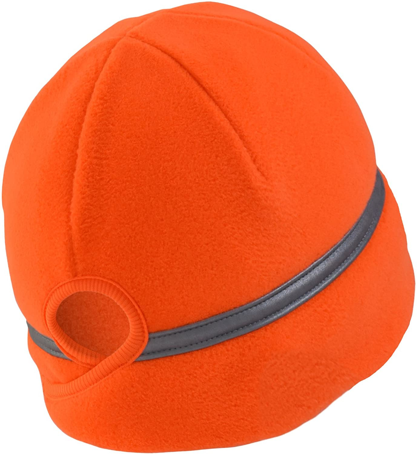 Ponytail safety reflective beanie for women