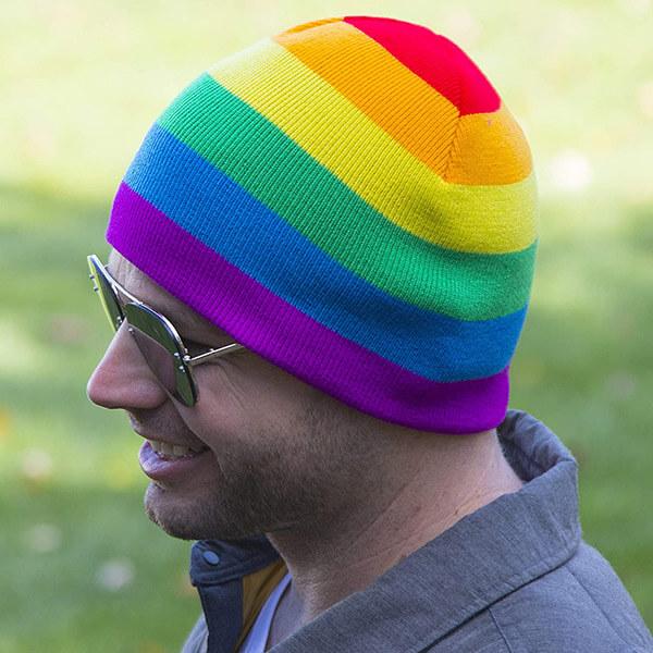 Premium Rainbow LGBTQ Beanie