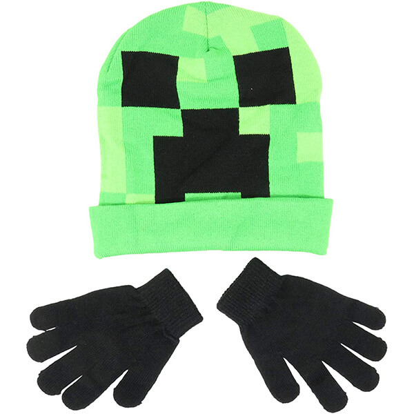 Worth Investing Protective Minecraft beanie With Gloves