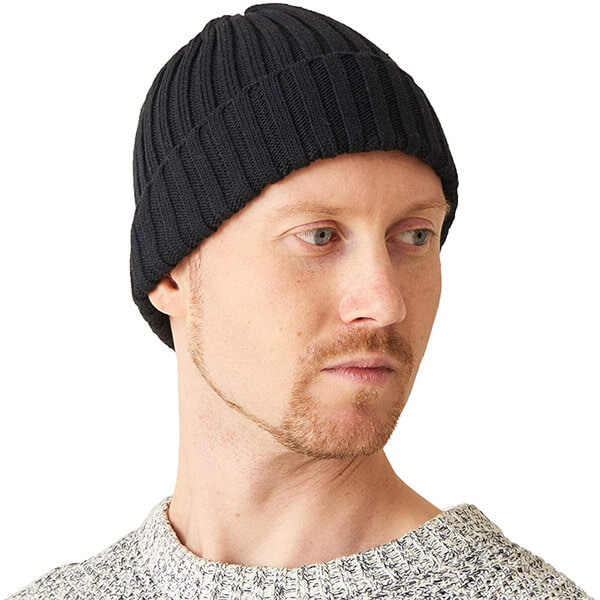 Cotton slouch knit beanie for men