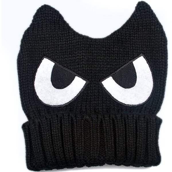 Cross-eyed horn beanie to look super cool