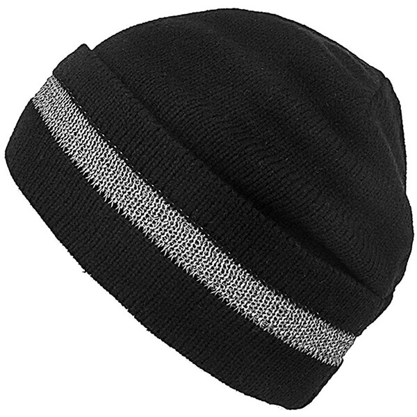 Long durable polyester safety reflective beanie for bikers