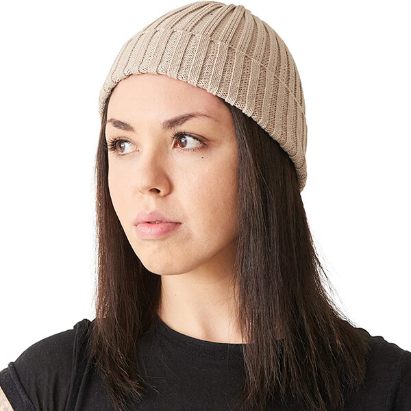 On Trend 100% Cotton Skin Friendly Ribbed Beanies