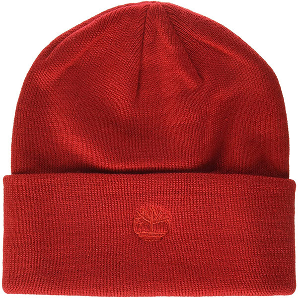 Red Safety Reflective Men's Cuffed Beanie