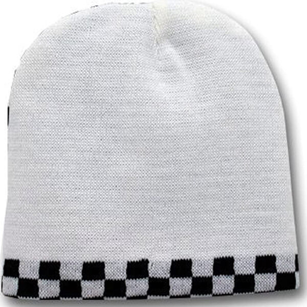 Reversible Checkered Beanie for Two Colors