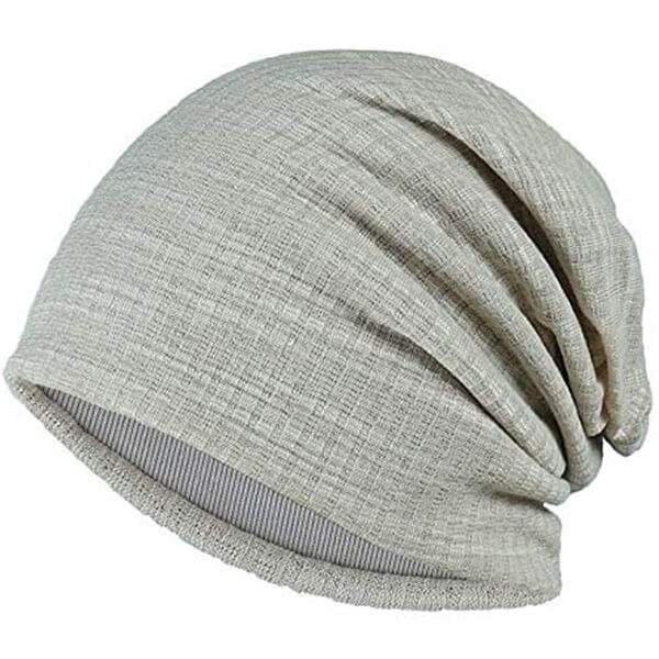 Skin-friendly slouchy cuffless beanie for you