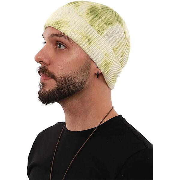 Tie dye knit beanie for winter