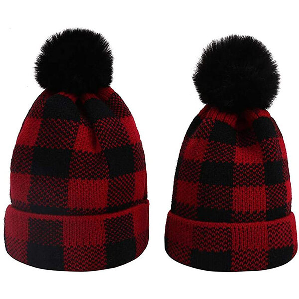 Timeless style plaid beanies for both