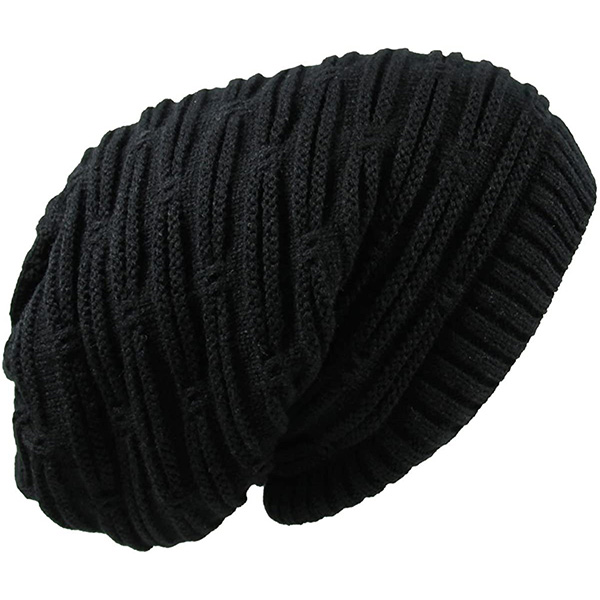 Affordable Stain-Resistant Black Dreadlock Beanie