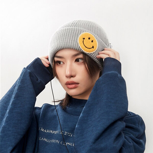 Big smiley beanie hats for all of you