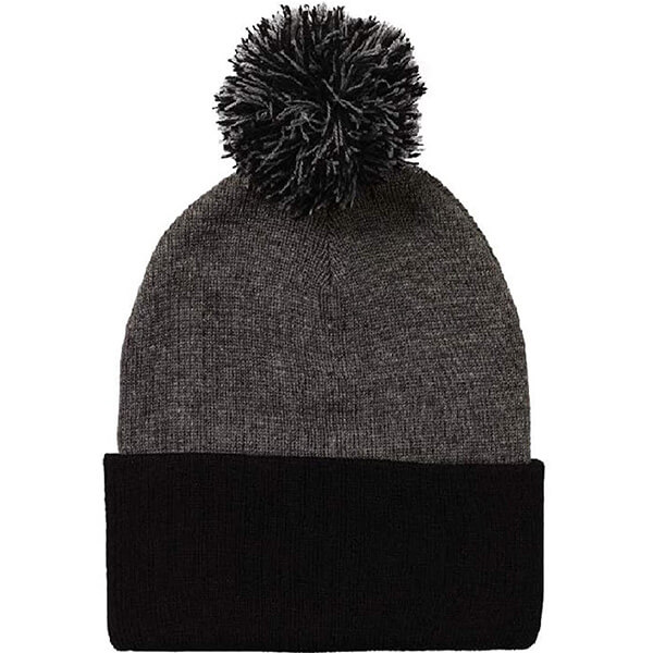 Black Grey Two Tone Beanie for All Outfits