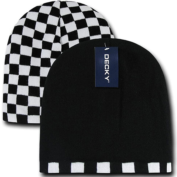 Lightweight DECKY Checkered Reversible Beanie