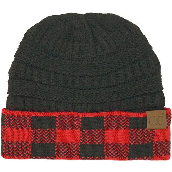 Unique designed red- black beanie for everyone