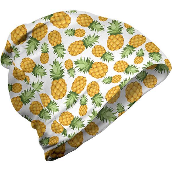 Unisex Polyester Pineapple Print Beanie
