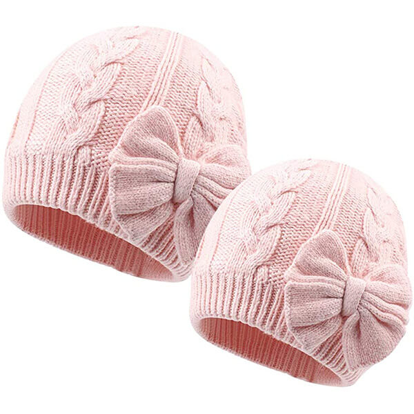 Best selling alluring mommy and me beanies with bow
